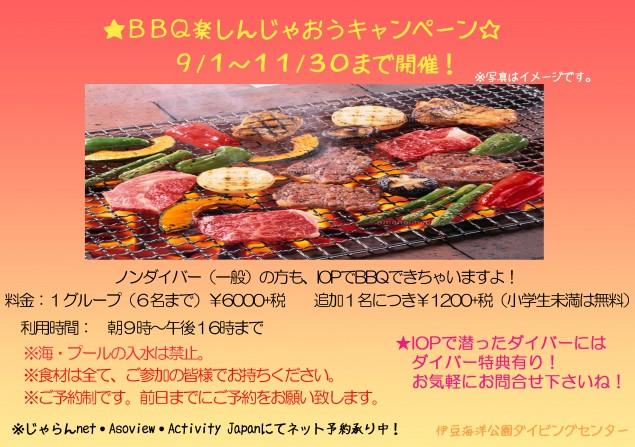 BBQ協賛キャンペーン(一般向け)